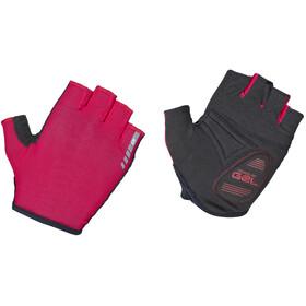 GripGrab Solara Lightweight Padded Tan Through Halve Vinger Handschoenen, rood/zwart